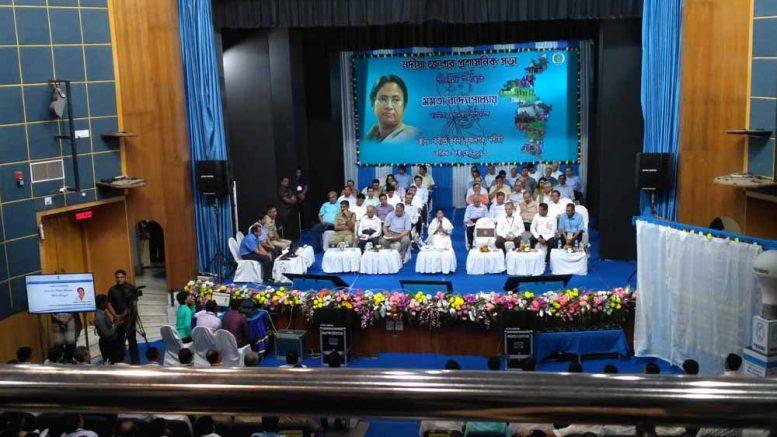 Mamata at The Administrative review meeting at Rabindra Bhawan auditorium in Krishnanagar.