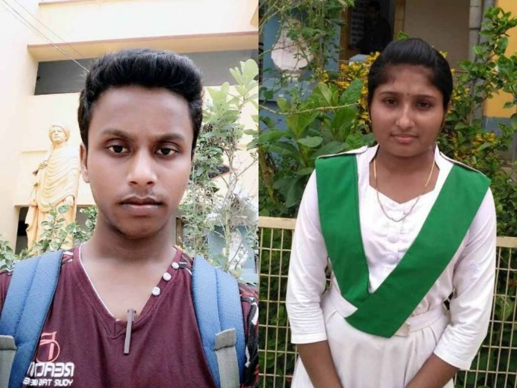 Rakhibul Mondal (475) and Shipra Adhikary of JCM High School