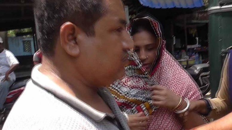 Accused spurious ghee making couple Parthapratim and Debashree Ghosh being taken to court in Ranaghat. Picture by Tito Chakraborty
