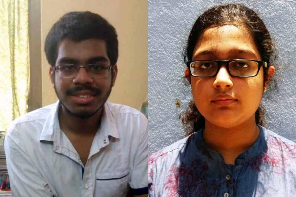 Hritam Nath (684) and Aishika Chakraborty (681)