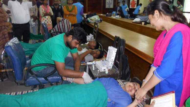 Blood donation camp at Kalyani University