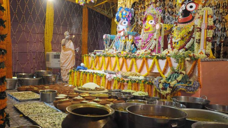 Chappan bhog offered before the Lord Jagannath at the Gundicha temple in Maayapur (2017) Picture by Pranab Debnath