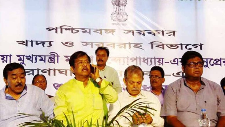 State food and supply minister Jyotiopriya Mullick in Ranaghat