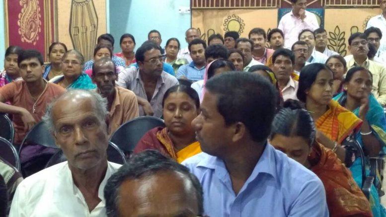 A part of the progressive farmers at the Dwijendralal Auditorium