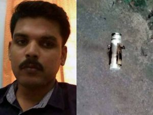 Thanarpara OC Animnesh and tear gas cell that police lobbed on agitators.