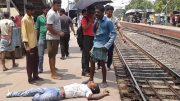 Body of Manik Madhu lying on the ground