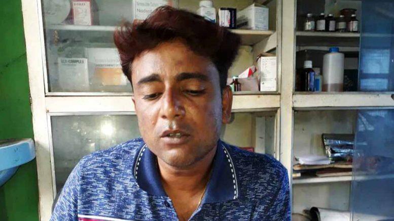 Fake dentist Swapan Sarkar at his chamber