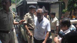 Convicted Lankeswar Ghosh being taken to court in Krishnanagar. Picture by Pranab Debnath