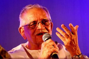Gulzar during the release of his books at Nandan