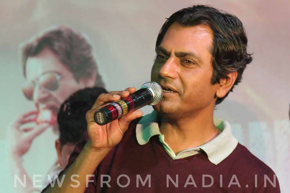 Nawazuddin speaking to the students
