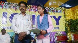 Kuheli Basak being felicitated