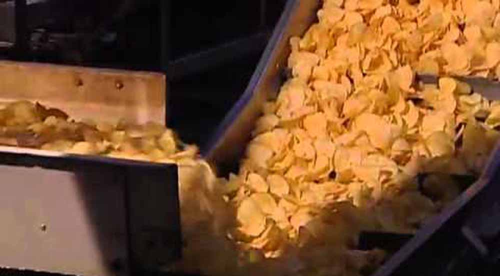Potato chips being made (representational picture)