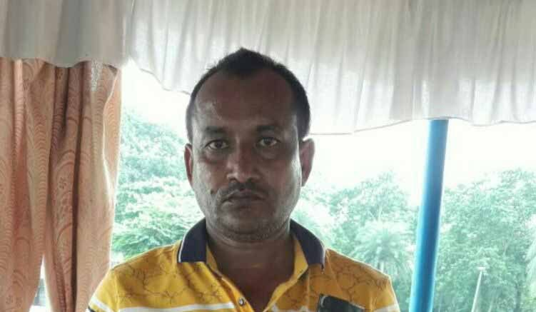 Mohammed Hafizul Biswas at Gede on Sunday