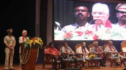 Chancellor of Kalyani University Kesharinath Tripathy addressing the students at 28th Convocation