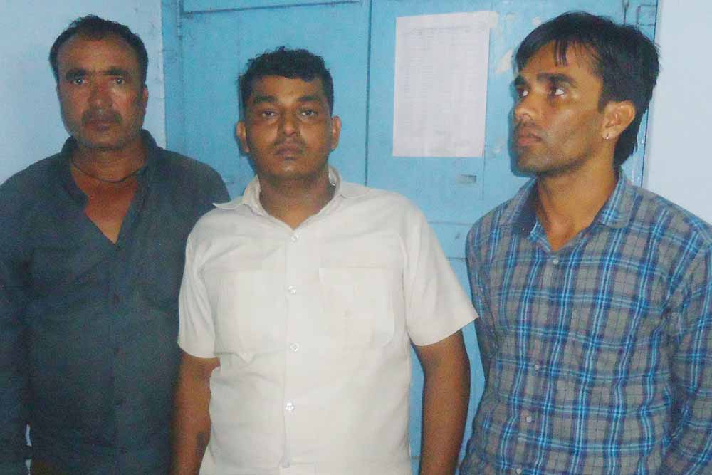 The three youths arrested by CID