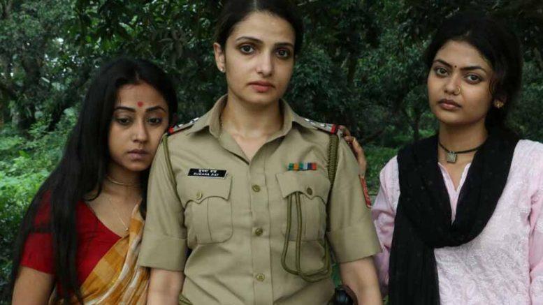 Tanushree Chakraborty, Priyanka and Sayanee in a scene from 'Aleya'