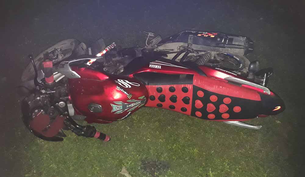 The bike of a victim died in accident in Phulia. Picture by Abhi Ghosh
