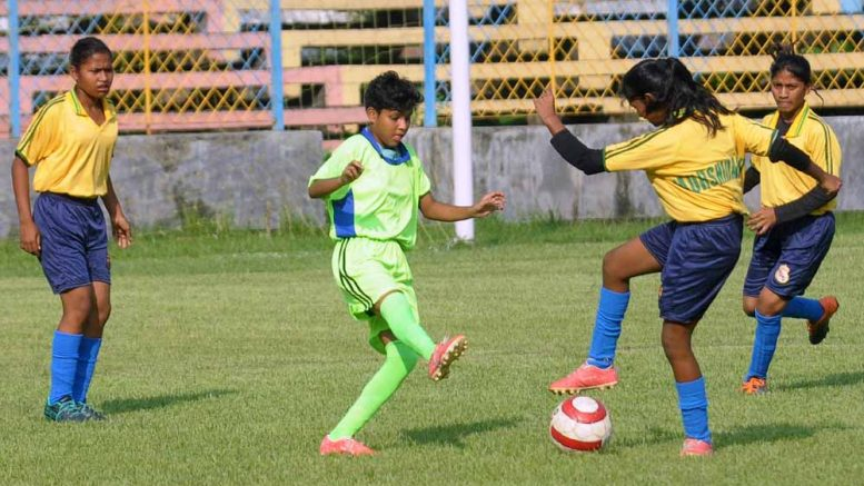U17 Women's Footaball: Nadia (Green) Vs Murshidabad (Yellow) match