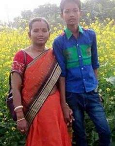 Soumen with his mother Tusi Biswas