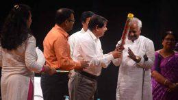 Vice chancellor of Kalyani University professor Sankar Kumar Ghosh felicitating a retired professor