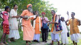 Folk artistes performing