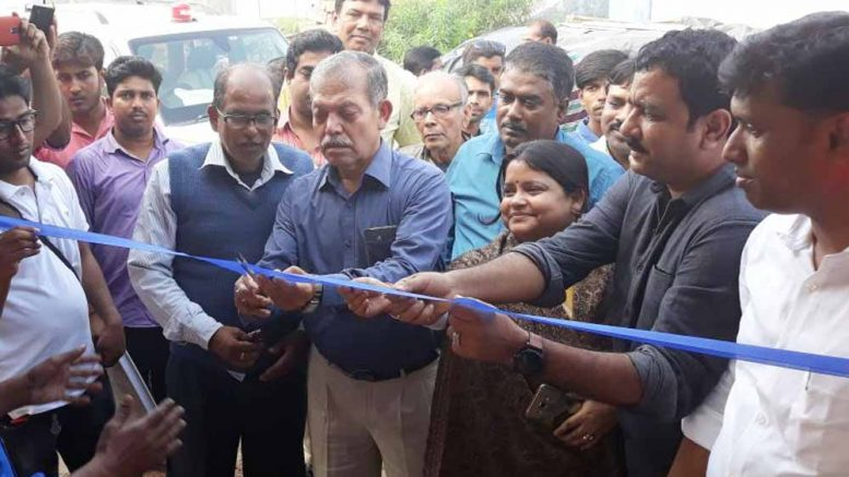 Bani Kumar Roy inaugurating the rural market in Debagram