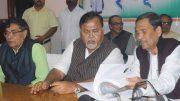 State education minister Partha Chatterjee in Krishnanagar on Sunday