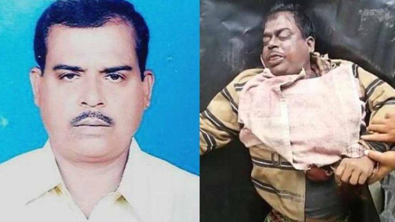 Deceased Trinamul Congress leader Pramath Sikdar
