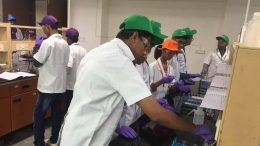 Participating students busy enjoying an practical session at a laboratory at IISER-K