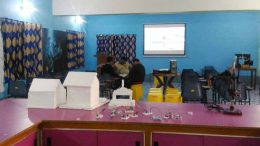 The Atal Tinkering Lab being set up at Dhanicha High School in Chakdaha