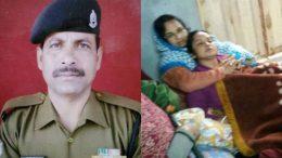 Deceased BSF Head Constable Radhapada Hazrra/His Wife Broke Down At Naziirpur Home