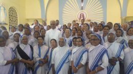 Father Tom with the nuns at Krishnanagar Mother Home