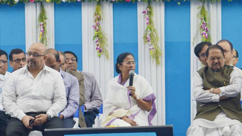 Chief Minister Mamata Banerjee at the administrative meeting in Krishnanagar