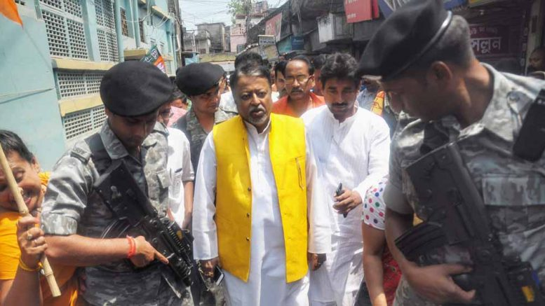 BJP's Mukul Roy in Krishnanagar on Friday