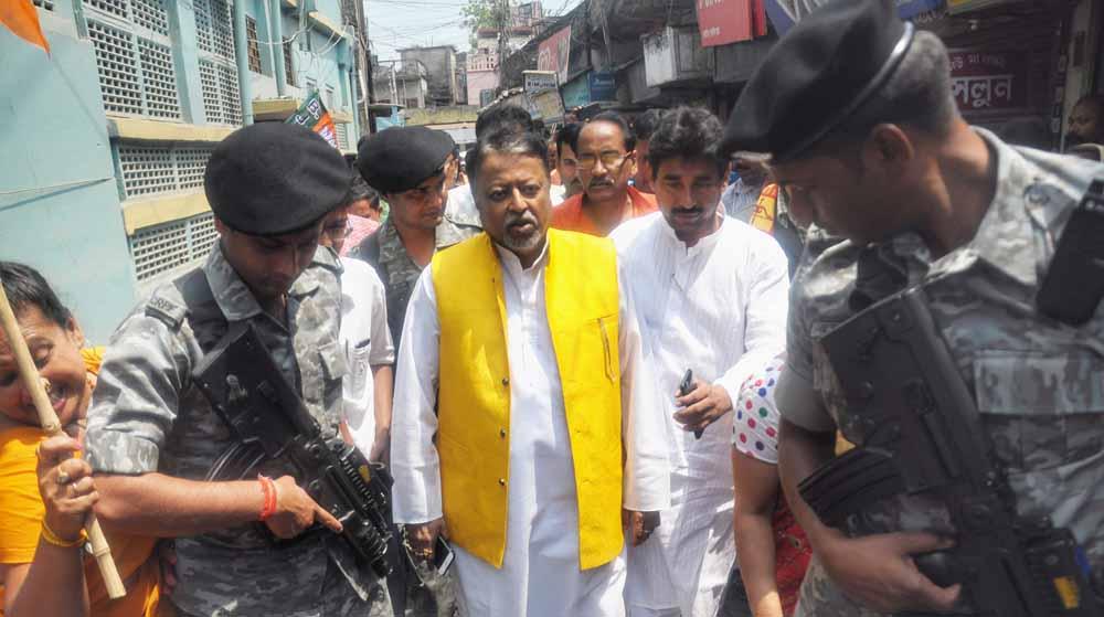 BJP's Mukul Roy in Krishnanagar on Friday