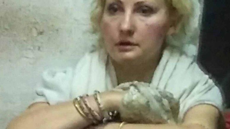 Olga after arrest in Nabadweep