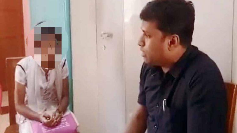 Kaliganj BDO Nazir Hossain with the girl