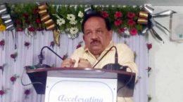Science and Technology minister Harsh Vardhan speaking at NIBGM, Kalyani