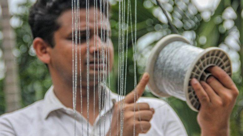 Anupam Sarkar with his staple chain