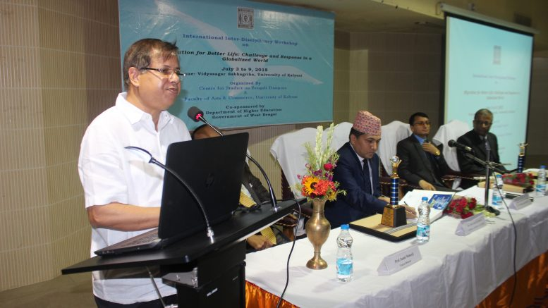 KU VC Professor Sankar Kumar Ghosh speaking at the workshop
