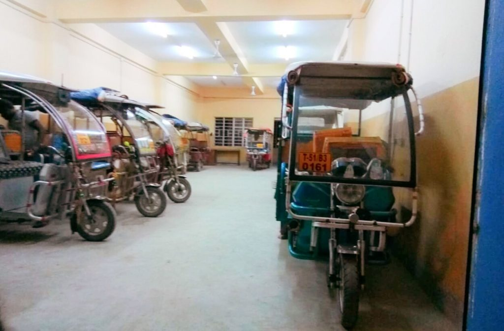Toto parked inside Tehatta ITI campus to be recharged