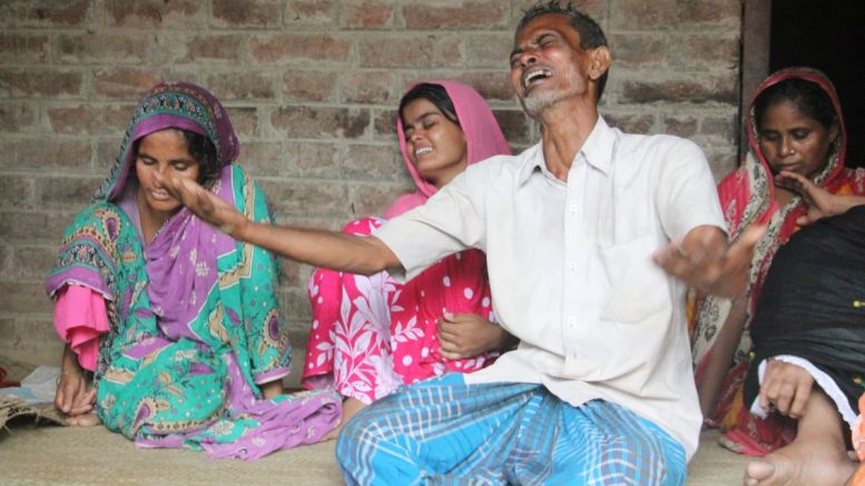 Bereaved family members mourn death of Dilwar at home