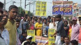 Residents in Ranaghat blocked railway tracks demanding motorable underpass