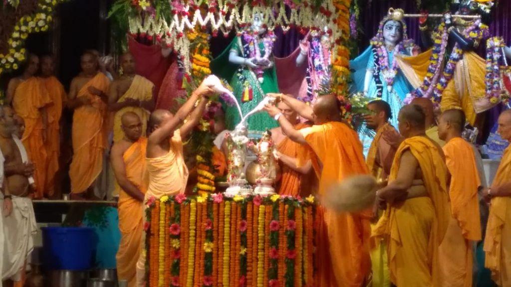Mahabhiseak at ISKCON