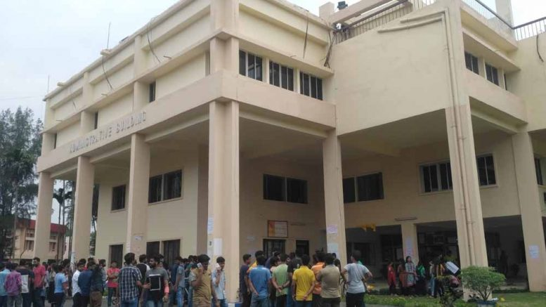 Administrative building of Bidhan Chandra Krishi Viswavidyalaya in Mohanpur