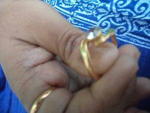 The diamond studded ring