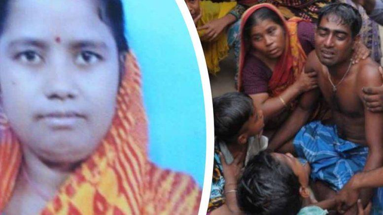 Deceased Marzina Biwi. Her husband Tahazuddin breaks down