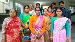 Anxious family members of the eight carpenters from Hanshkhali