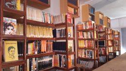 Bagdipara's Jagaddhatri puja pandal in Krishnanagar decorated as a library