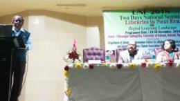Professor Juran Krishna Sarkhel speaking at the seminar